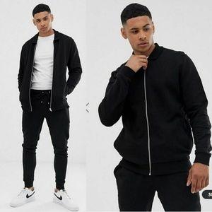 Asos Design Men's Small black 2 pc Tracksuit